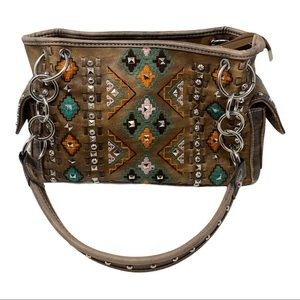 Montana West western embellished studded handbag